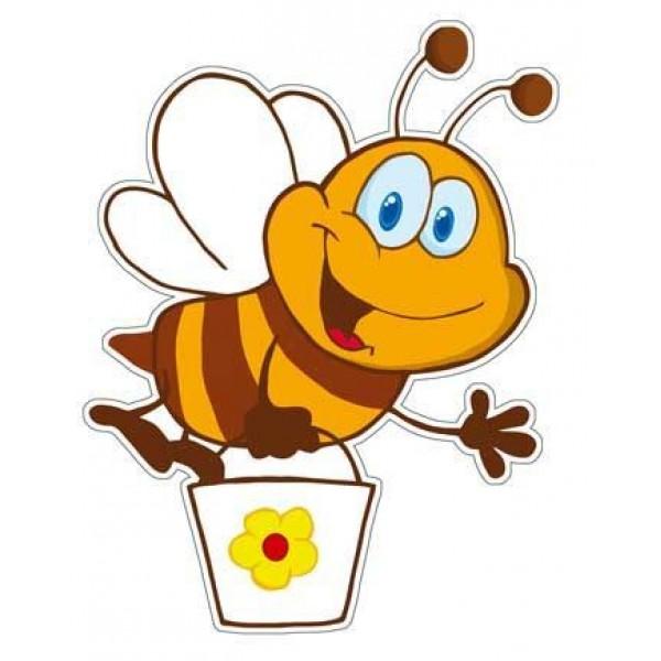 Αυτοκόλλητο μέλισσα με κουβαδάκι