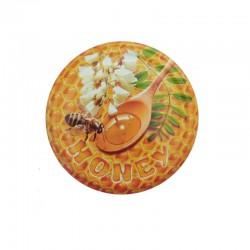 Καπάκι για βάζο κιλού μέλισσα με μέλι