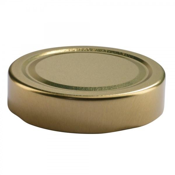 Καπάκι Χρυσό Για Μισόκιλο Πλατύ Φ 63