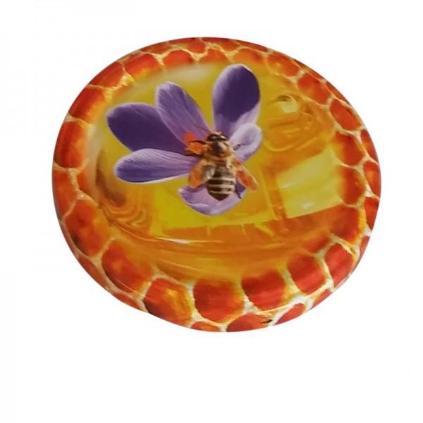 Καπάκι Καρό Με Μωβ Λουλούδι Για Βάζο 720 ml