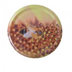 Καπάκι Μέλισσα Πάνω Σε Γύρη
