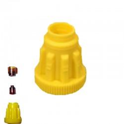 Κίτρινες ραβδωτές βάσεις Ζέντερ (40τεμ)