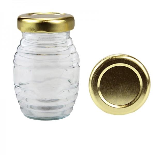 Βάζο γυάλινο 106 ml Ριγωτό